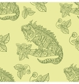 hand drawn iguana Ethnic tribal styled vector image