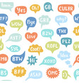 hand drawn internet speech bubbles vector image