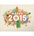 Happy 2015 quote vector image vector image