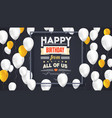 Happy birthday poster with shiny colored balloons