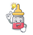 have an idea nassal drop mascot cartoon vector image