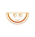 kawaii watermelon fruit character cute funny vector image vector image