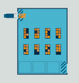 layout warehouse from top view vector image