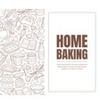 leaflet with a brown inscription home baking vector image vector image