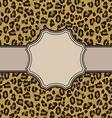 leopardroundframe vector image vector image
