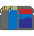 memory card icon isolated on white vector image