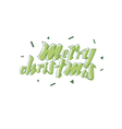 Merry Christmas beautiful letters design vector image vector image