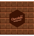 Milk Chocolate Background vector image vector image