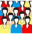 much womans crowd vector image vector image