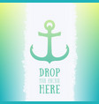 nautical anchor icon logo element vector image vector image