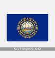 new hampshire usa state flag nh usa vector image