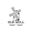 old mill design template vector image vector image