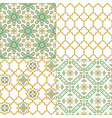 oriental arabic seamless pattern traditional vector image vector image