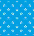 ornamental star pattern seamless blue vector image