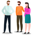 people standing together for communication talk vector image