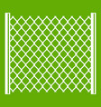 perforated gate icon green vector image vector image