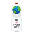 plastics bottles set vector image