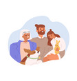portrait happy family with grandmother adult vector image vector image