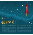 Project Launch Rocket in Space Background vector image vector image