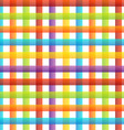 Rainbow colored pinstripe vector image vector image