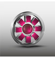 red cog futuristic logo vector image