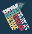 run marathon typography t-shirt graphics sport vector image vector image