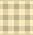 seamless cloth - pastel beige and yellow tartan vector image vector image