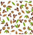 seamless pattern with cacao vector image vector image