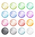 set of blank glossy buttons made of metal of vector image vector image