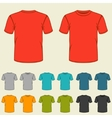 set templates colored t-shirts for men vector image