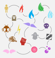 seventeen element use in game vector image vector image