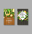 st patricks day greeting holiday posters vector image vector image