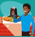 thanksgiving celebration design vector image vector image