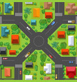 the top view is a map city district module vector image vector image