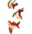three birds vector image