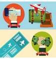 travel payment check cash ticket banner vector image