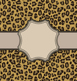 vintage leopard frame with text place vector image vector image