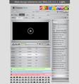 web design elements set silver 2 vector vector image vector image