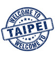 welcome to taipei vector image vector image