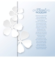 White flowers and copy space vector image