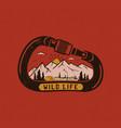 wild life logo design print mountain adventure vector image vector image
