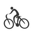 figure athlete silhouette icon vector image