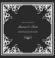 wedding invitation card template with laser vector image