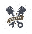 Pistons and spanners hand drawn vector image