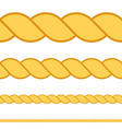 seamless rope macro thread texture vector image