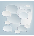 Paper bubbles icons vector image