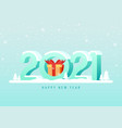 2021 happy new year background decorative vector image vector image