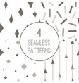 4 simple minimalistic seamless geometric patterns vector image vector image