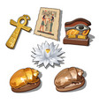 a set of sacred symbols and artifacts of ancient vector image