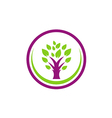 abstract green tree nature logo vector image